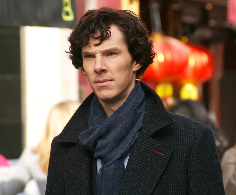 Benedict Cumberbatch speelt Sherlock Holmes